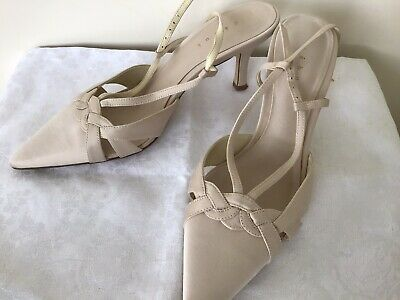£8.50 • Buy Smart Ladies'debut 'Occasion Heeled Satin Shoe Uk6 Once Worn Stone Colour Ex Con