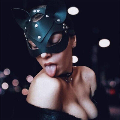$ CDN6.48 • Buy Erotic Women Sexy Mask Half Face Fox Cosplay Leather Mask Halloween Party M WN