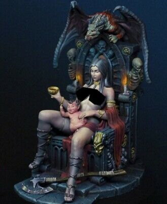 £38 • Buy 1/24 Resin Model Figure Female Fantasy Lady With Chair  Unassembled Unpainted