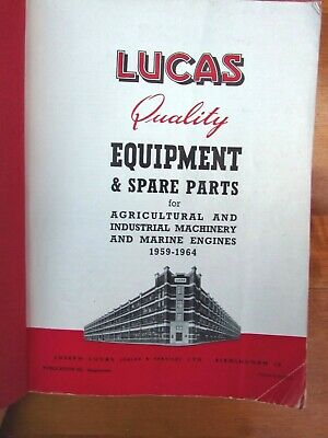 £46.55 • Buy Lucas Agricultural Equipment/ Industrial + Marine Spare Parts Catalogue 1959-64