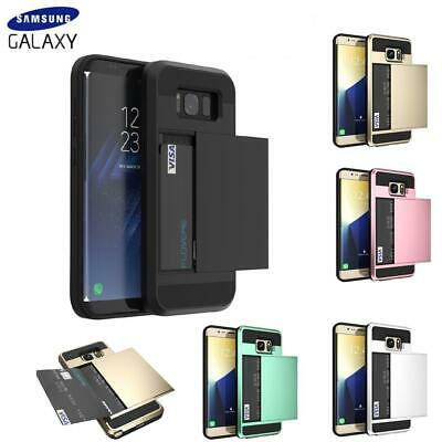 $ CDN7.62 • Buy Case For Samsung Galaxy S8 S9 S10 S20+ Shockproof Card Holder Hard Wallet Cover