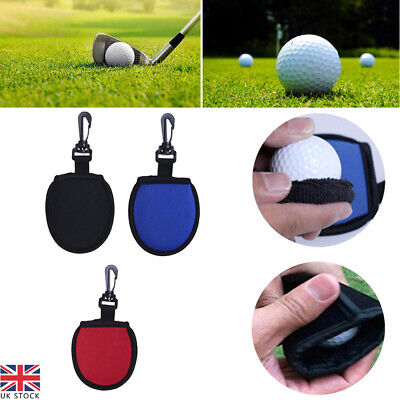 £5.23 • Buy Golf Ball Pouch Pocket Washer Cleaner Towels With Clip For Bags Black Portable
