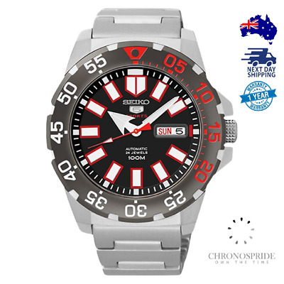 $ CDN416.39 • Buy Seiko 5 Sports SRP487 SRP487K1 Black Red Baby Monster Automatic Mens Watch