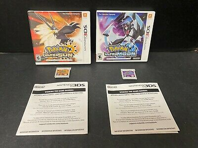 AU124.20 • Buy Pokemon Ultra Sun And Ultra Moon 3DS Nintendo 2012 Authentic Lot Of 2