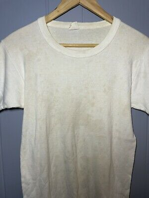 £23.87 • Buy Towncraft Vintage 60's 70's T Shirt JcPenney Blank White Grunge Thrashed