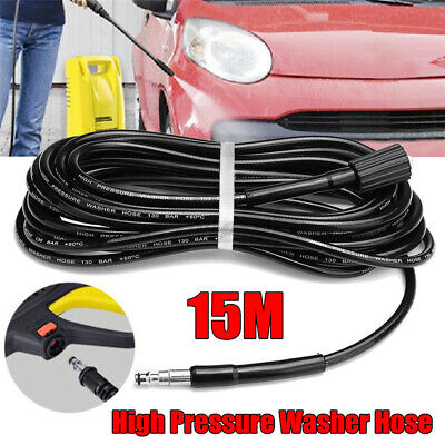 £22.87 • Buy 15M 130bar High Pressure Car Washer Cleaning Water Hose Extension Tube Fit VAX