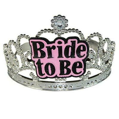 £3.98 • Buy Bride To Be Pink Silver Tiara Accessories Hen Wedding Party Do Night