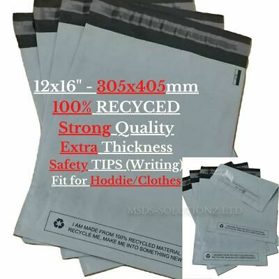 £1.98 • Buy 12x16  MAILING BAGS - Strong GREY POSTAL MAILING BAGS Self-Seal RECYCLED Sacks
