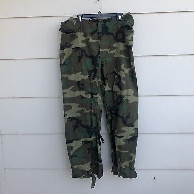 $24.99 • Buy Military Improved Rainsuit Trousers Sz Large Woodland Camo Packable