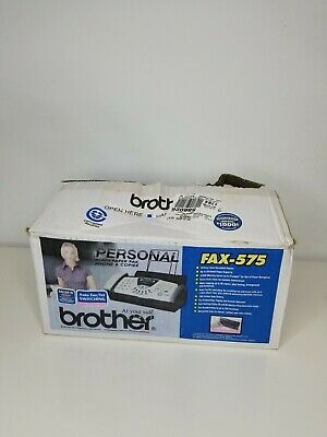 £122.30 • Buy Brother FAX-575 Personal Fax Machine With Phone And Copier New In Box