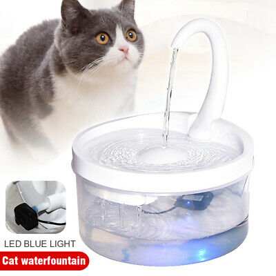 £17.99 • Buy 2L Automatic Electric Cat Dog Pets LED Light Water Fountain Home Easy Clean UK