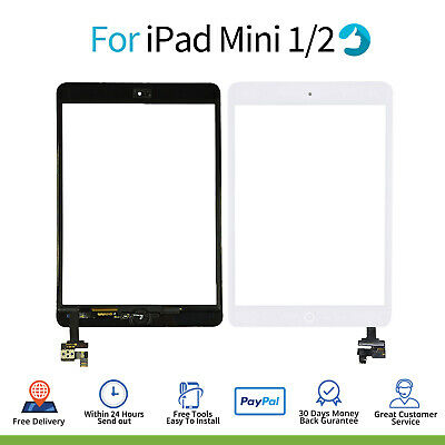 £10.99 • Buy For IPad Mini 1/2 Screen Replacement Glass Touch Digitizer White +Genuine OEM IC