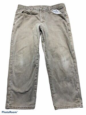 $21.60 • Buy Ll Bean Mens Flannel Lined Natural Fit Tan Denim Jeans Size 40 X 29