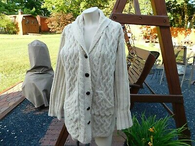 $9.99 • Buy Aran Crafts Fisherman Cable Knit Sweater Size XS Cardigan Mens Womens Unisex
