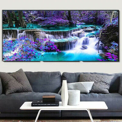 AU21.69 • Buy Large Landscape 5D DIY Full Drill Diamond Painting Embroidery Kits Decor MurEH