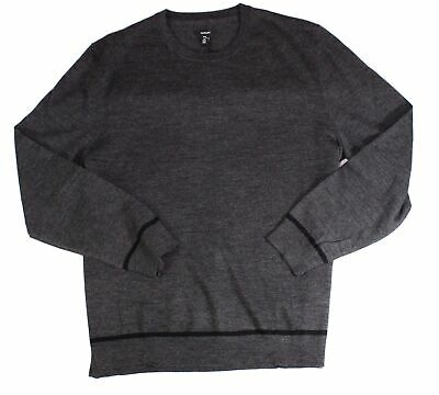 $12.98 • Buy Alfani Mens Sweater Gray Size Large L Pullover Wool Crewneck Solid Knit $85 015