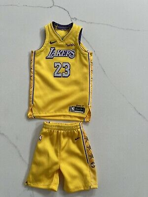 $99.99 • Buy 1/6 Los Angeles Lakers 2019-20 City Edition LeBron James #23 Jersey For ENTERBAY