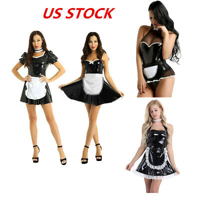 $21.69 • Buy Sexy Women Cosplay Costume French Maid Lingerie Outfit Fancy Skirt Nurse Uniform