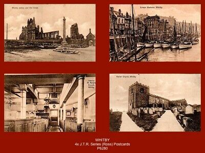 £6.90 • Buy  WHITBY - 4x Early J.T.R. Series Sepia Postcards (Ross, Whitby) (c.1910's)
