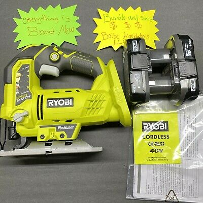 £89.84 • Buy Ryobi One+ Plus 18V Orbital Jig Saw P5231 Cordless With Two Batteries & Charger