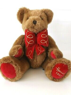 £15 • Buy Harrods - Christmas 1997 - Henry - Foot Dated Teddy Bear - Imperfect