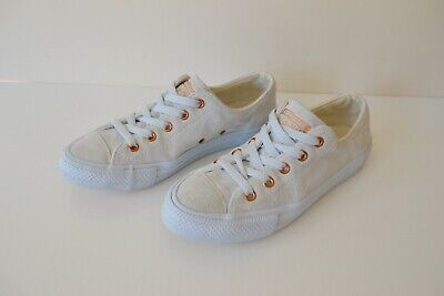 £30 • Buy Converse All Star Oxford Low Top Pale Blue Suede Leather Sneaker Shoes Uk 4 Eu37