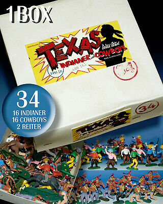 £34.31 • Buy 34 Texas Cowboy & Indian Figures SWOPPETS 1970er Years + 1 Timpo Baseplate