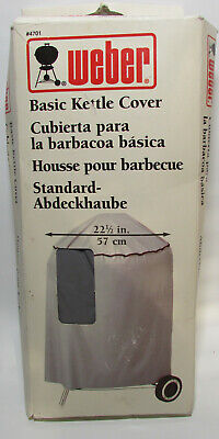 $ CDN15.11 • Buy Vintage Weber Grill Kettle Cover Never Used 1996 No 4701 22 1/2   Grills Gray