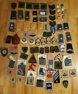 $35 • Buy Lot Of 70 + Military Patches Army, USAF, Marines New Lot 10
