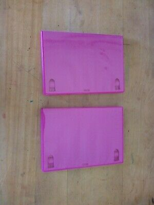 £3 • Buy 2 Pink Replacement Empty Single DVD Cases. 14mm Spine. Used.