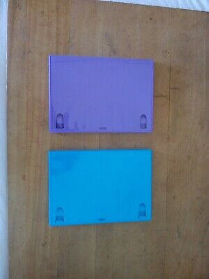 £3 • Buy 1 Purple & 1 Turquoise Replacement Empty Single DVD Cases. 14mm Spine. Used.