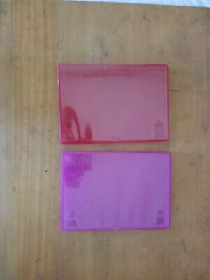 £3 • Buy 1 Clear Pink & 1 Clear Red Replacement Empty Single DVD Cases. 14mm Spine. Used.