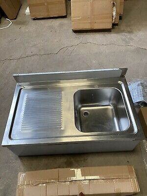 £265 • Buy Ex Display- Stainless Steel Commercial Sink Left Handed Drainer– 1000mm