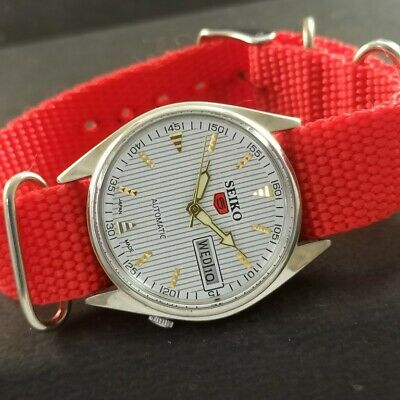 $ CDN32.01 • Buy OLD VINTAGE SEIKO 5 AUTOMATIC JAPAN MENS DAY/DATE WATCH 457d-a229221-2