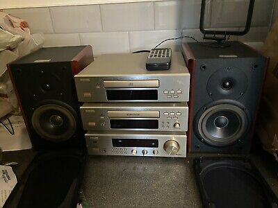 £200 • Buy Dennon Dra-f100 Reciever Cd Player And Tape Deck With Ruark Epilogue II Speakers