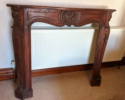 £110 • Buy Solid Wood Carved Fire Surround Mantle - Mahogany / Traditional