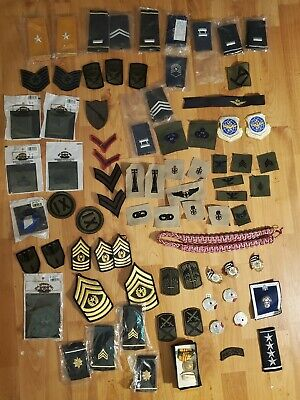 $35 • Buy Lot Of 70 + Military Patches Army, USAF, Marines Navy New Lot 15