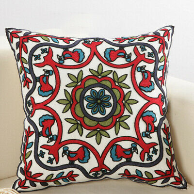 £8.27 • Buy Indian Cushion Cover Suzani Covers Embroidered Boho Decor Floor Pillow Case DH