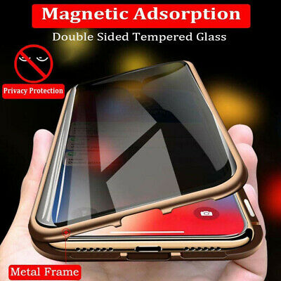 AU16.20 • Buy 360°Full Cover Magnetic Glass Case Anti-Spy Privacy For Samsung Galaxy S8 S9 S10