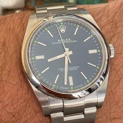 $ CDN7112.50 • Buy Rolex Oyster Perpetual 114300 Men's Automatic Watch 100% Genuine 39mm Blue Dial