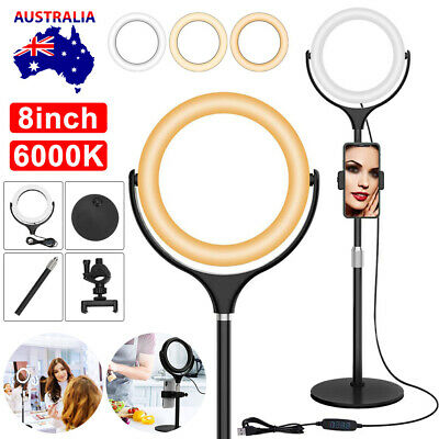 AU34.95 • Buy 8 Inch LED Ring Light With Stand And Phone Holder Make-up Live For Camera IPhone