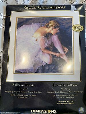 """£30 • Buy Dimensions The Gold Collection Cross Stitch - Ballerina Beauty 14 X14"""""""