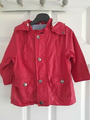 £3 • Buy Marese Girls Red Coral Raincoat Age 18m