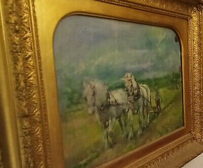 £335 • Buy 'First Time Out' Impressionist Oil On Board In Good Quality Frame