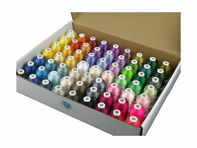 $58.42 • Buy Simthread 63 Brother Colors Polyester Embroidery Machine Thread Kit 40 Weight...