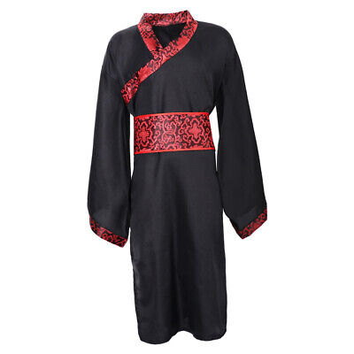 £12.22 • Buy Mens Hanfu Chinese Style Traditional Clothing Tang Suit Robe Cosplay Costume