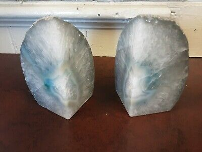 £25 • Buy Vintage Agate Bookends X Two Heavy