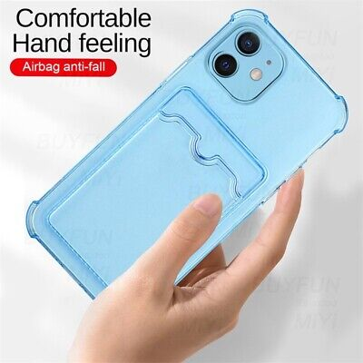 AU5.40 • Buy Phone Case For IPhone 12 11 Pro Max X 7 8 Silicone Cover With Wallet Card Holder