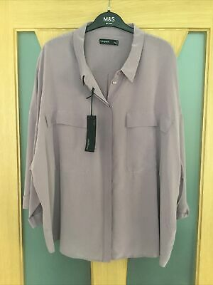£14.99 • Buy Marks And Spencer Autograph Sz 12 Mauve Washable Pure Silk Blouse New