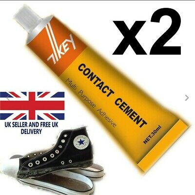 £3.45 • Buy 2 X CONTACT CEMENT GLUE ADHESIVE RUBBER LEATHER FABRIC GLUE HEEL SHOE REPAIR